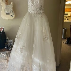 Gorgeous designer ballroom wedding gown